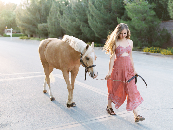 las vegas ranch with horses senior photography