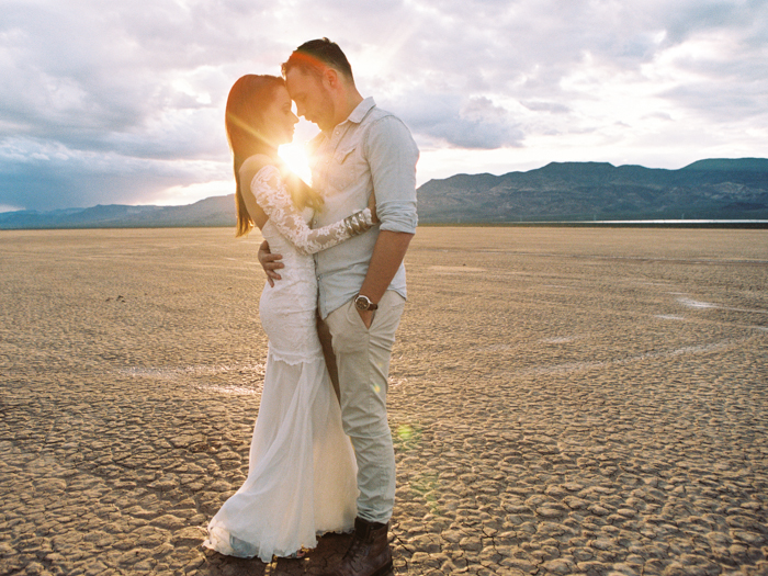 grace loves lace wedding dress in the desert