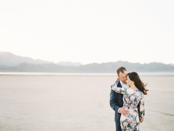 romantic las vegas desert engagement session