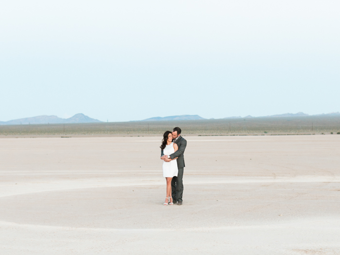 romantic las vegas desert engagement photo