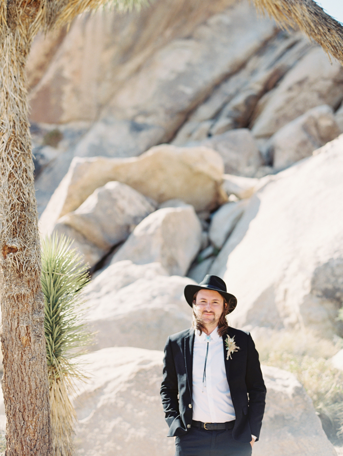 chic desert groom's attire