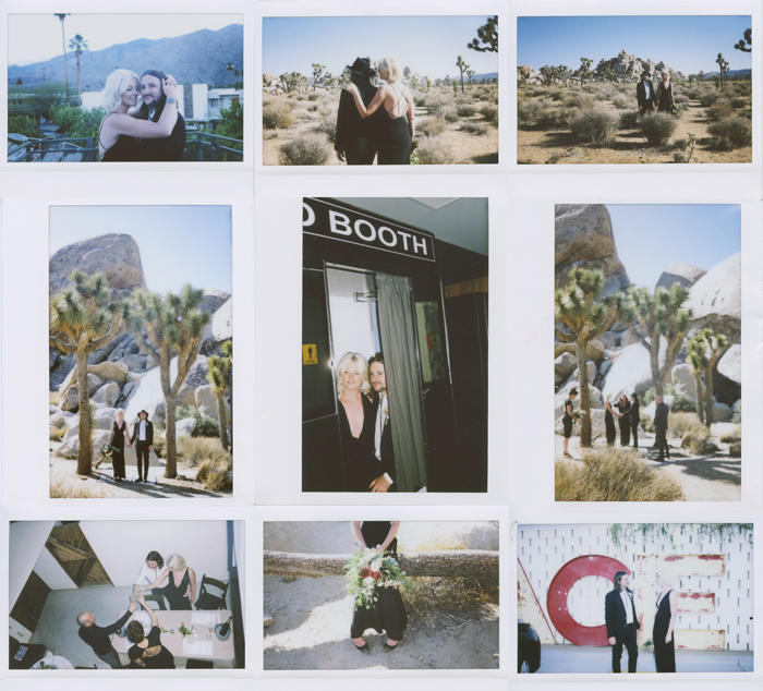 joshua tree and ace hotel palm springs elopement polaroids | gaby j photography
