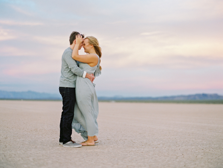 las vegas engagement | dry lake bed | las vegas fine art engagement photographer | desert sunset | free people | gaby j photography