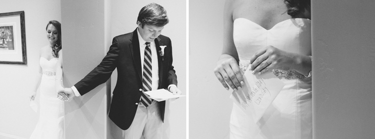 secret letter exchange on your wedding day | gaby j photography