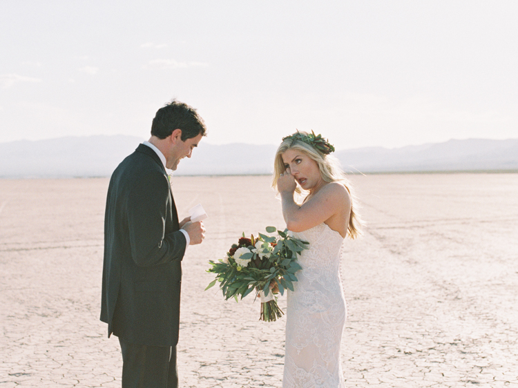unconventional las vegas wedding | gaby j photography | dry lake bed wedding photo