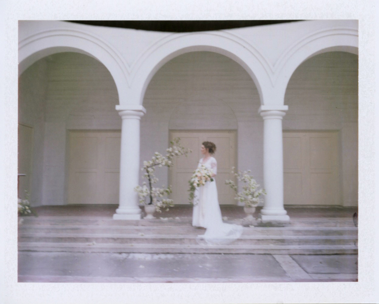 delicate wedding inspiration polaroid gaby j photography