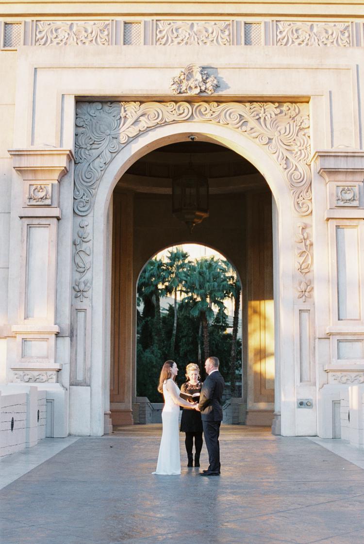 sunrise elopement ceremony in las vegas