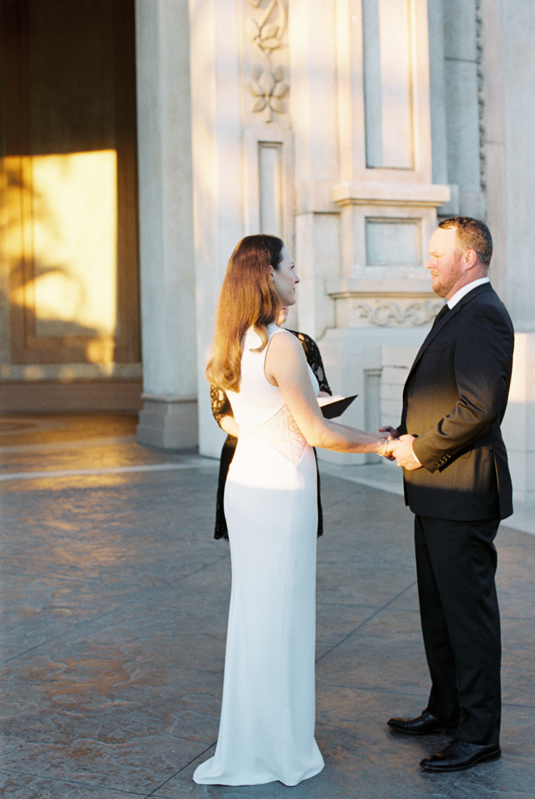 sunrise elopement ceremony in las vegas