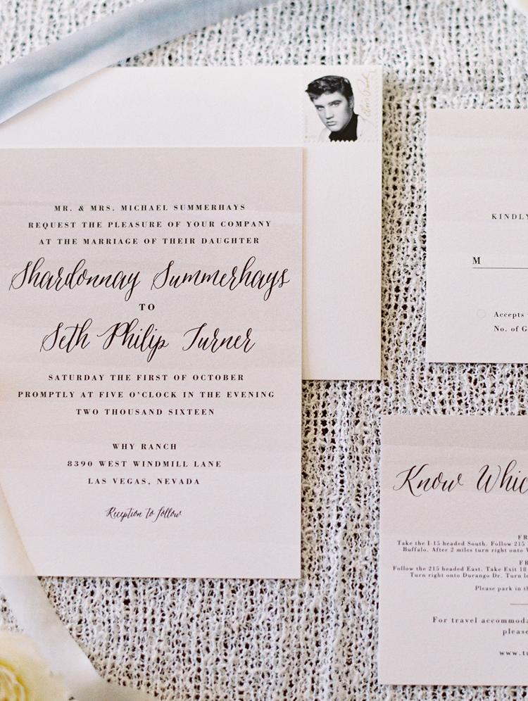 las vegas wedding invitations elvis stamp