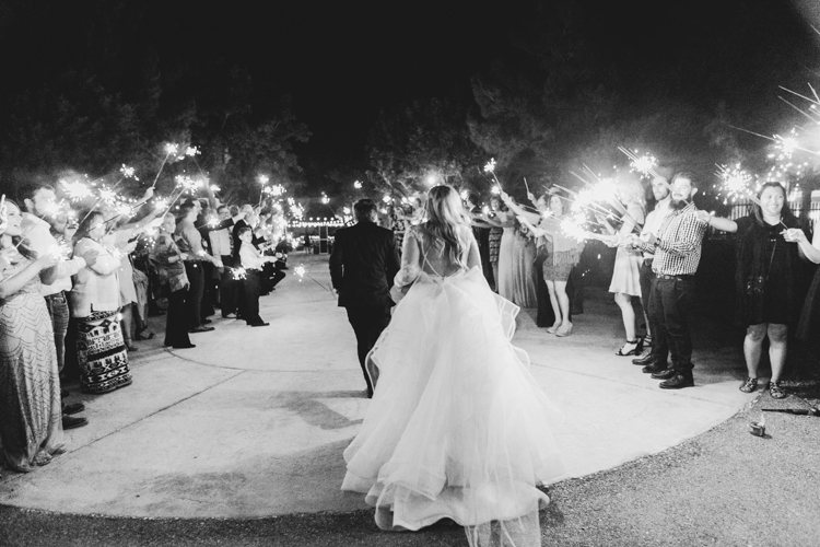 sparkler exit bride and groom las vegas