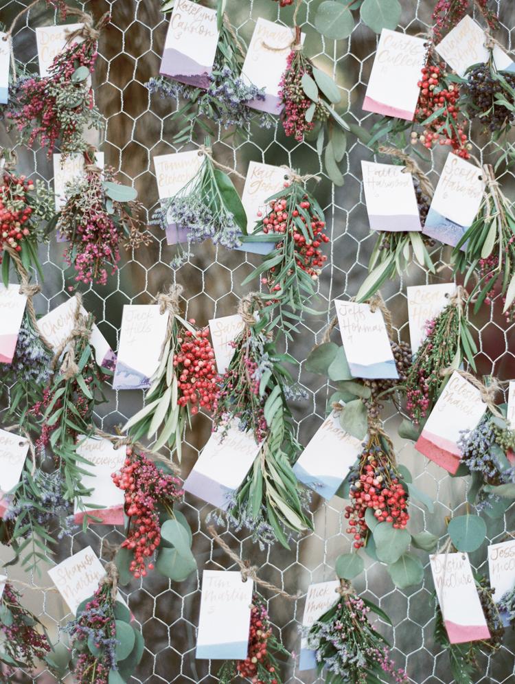 dried herbs escort cards