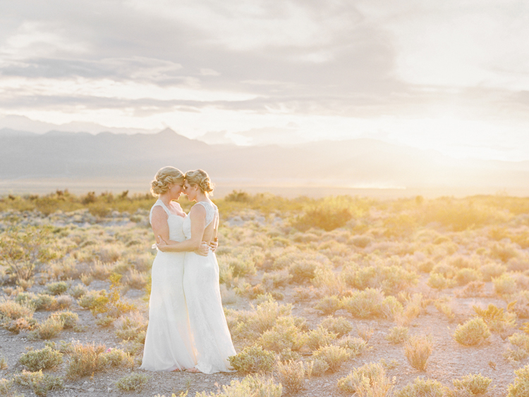 sunset desert same sex elopement photographer