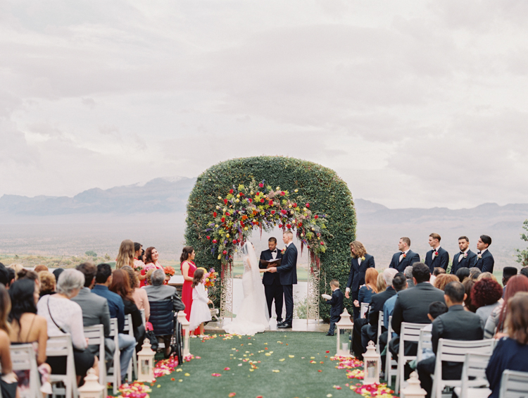 paiute golf wedding ceremony pictures