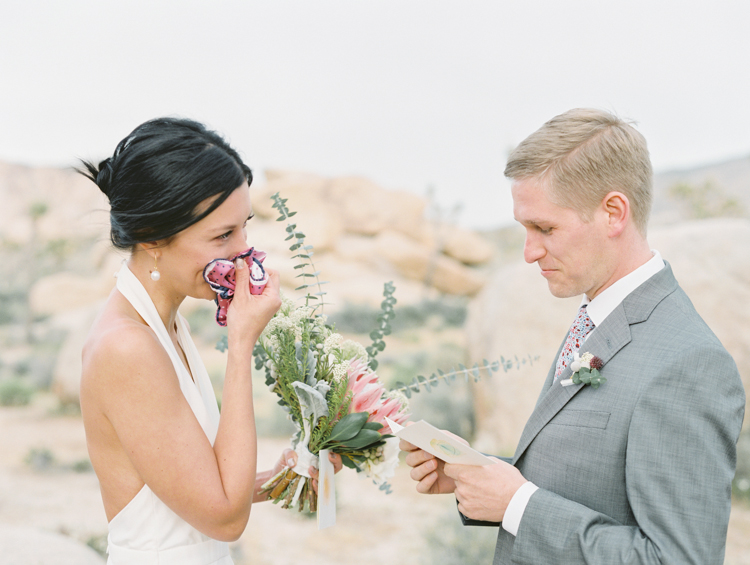 emotional moments during elopement ceremony