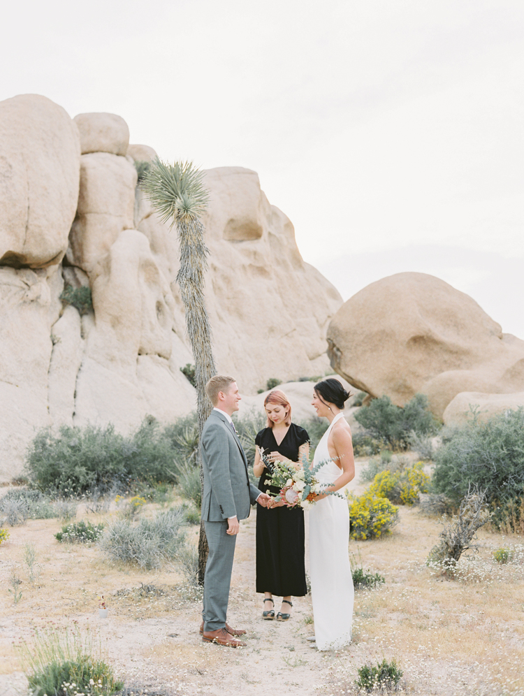 elopement ceremony joshua tree national park