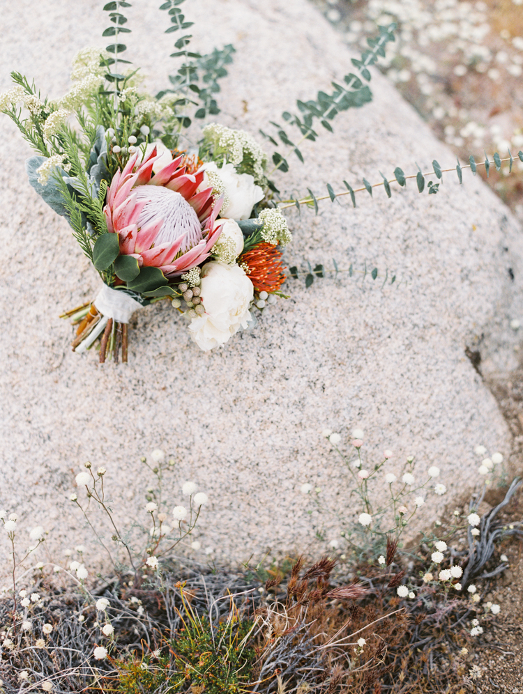 protea boho elopement bouquet flora pop