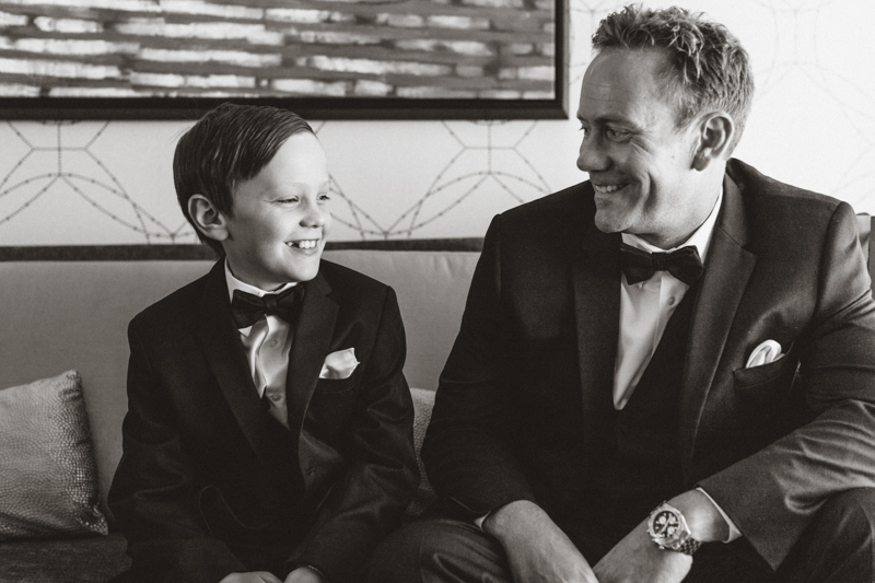 father and son day of the wedding