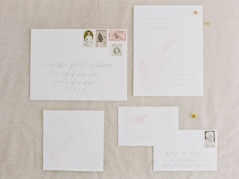 minimal wedding invitation suite