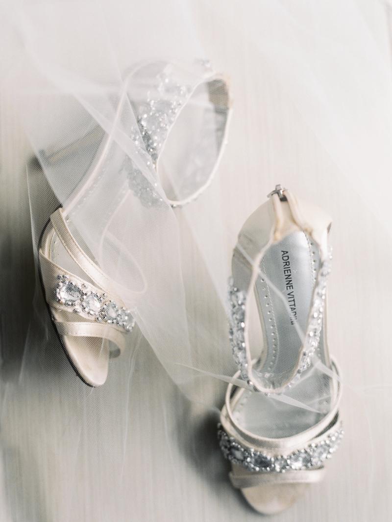 wedding heels and veil