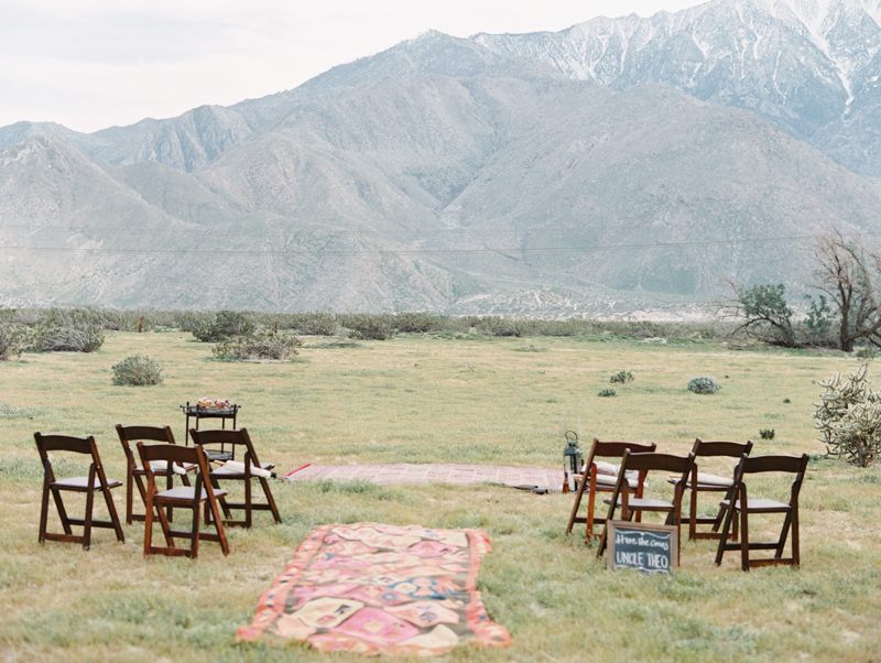 intimate wedding ceremony in palm springs