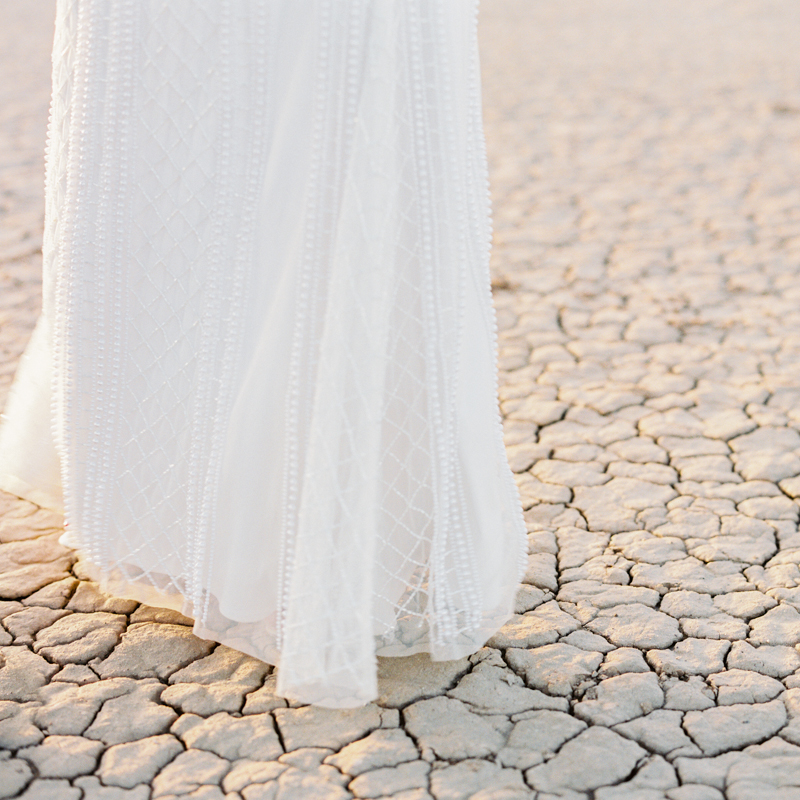 cracked dry lake beds