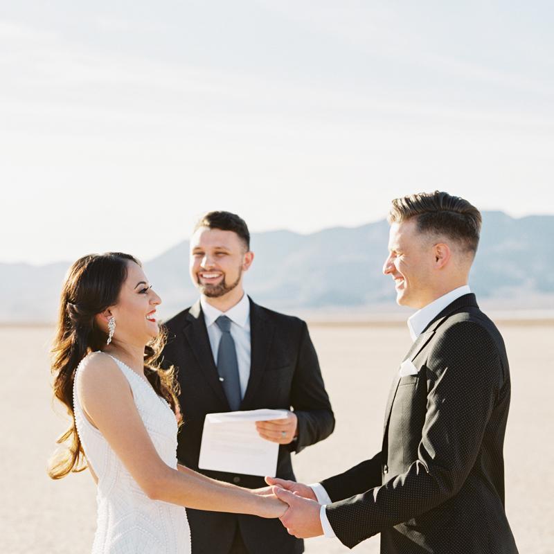 las vegas dry lake bed wedding