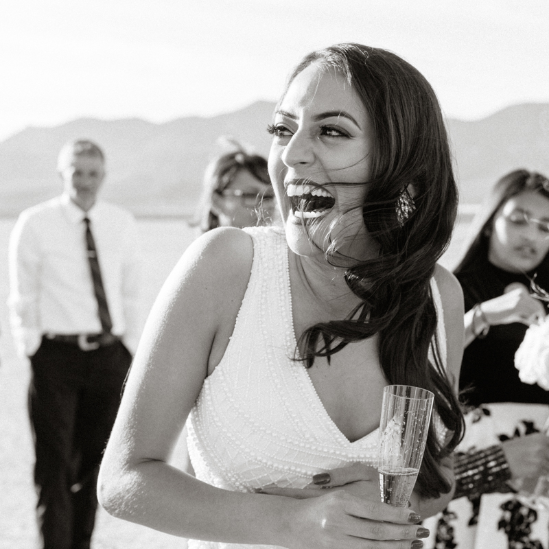 bride laughing hysterically