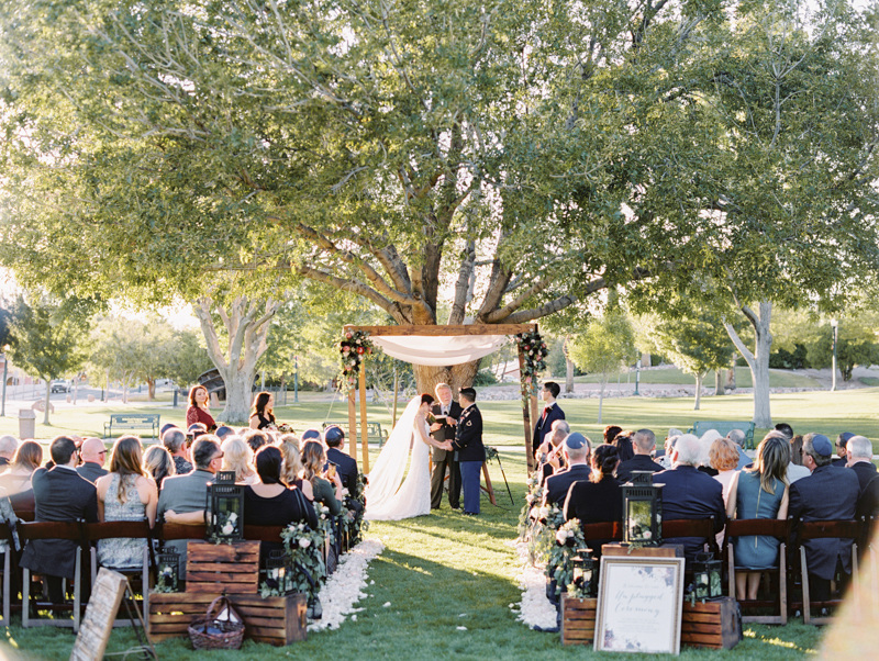boulder city outdoor wedding ceremony - gaby j photography