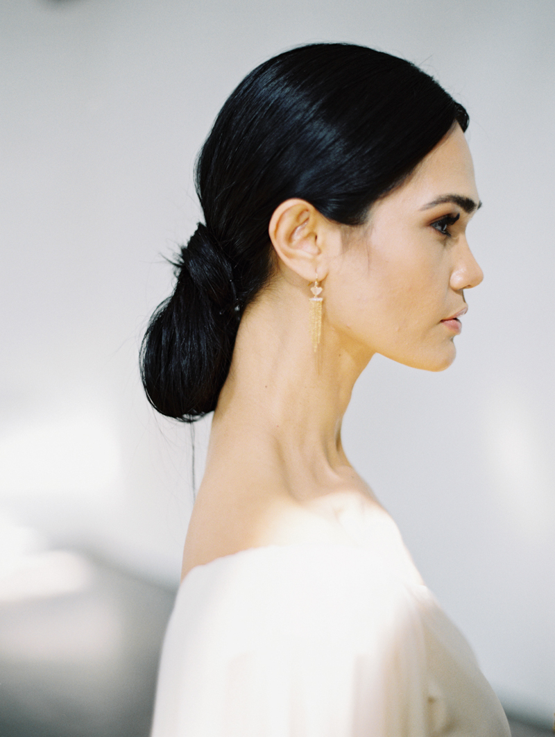 low chignon bridal hair - ruby finch salon