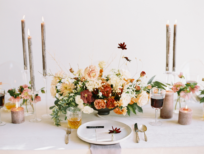 modern wedding reception with ceramics