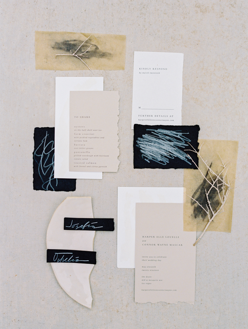 modern minimal wedding invitations - brylo wed