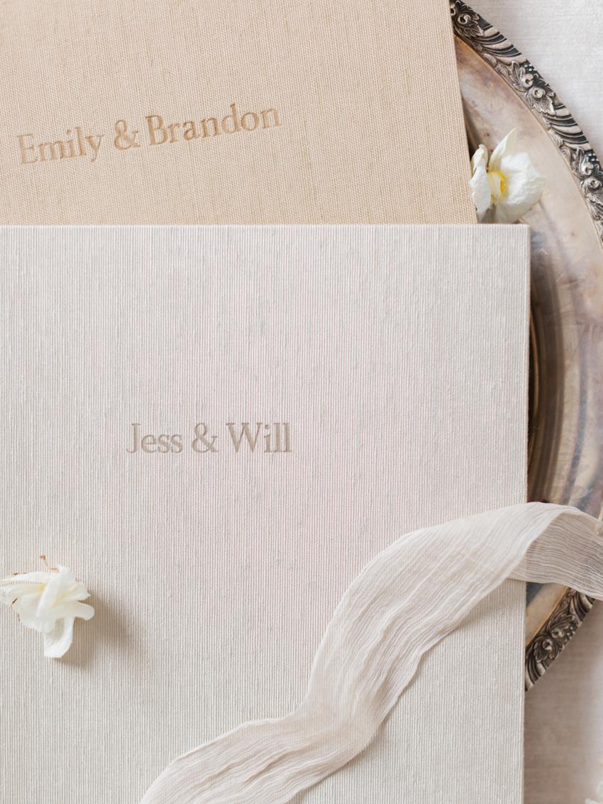 hand bound fine art wedding album