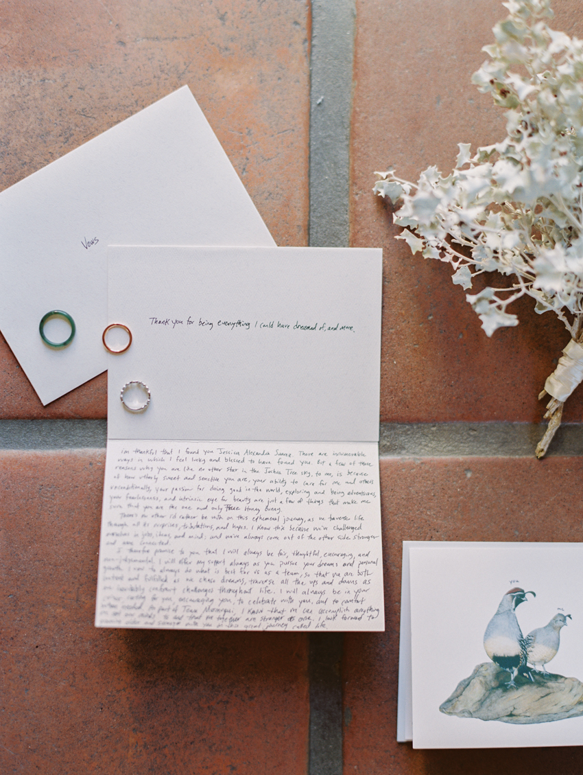 handwritten wedding vows in cards