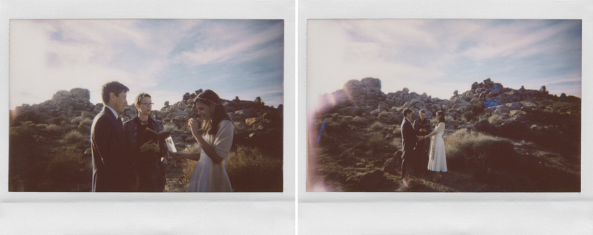 joshua tree national park wedding polaroids