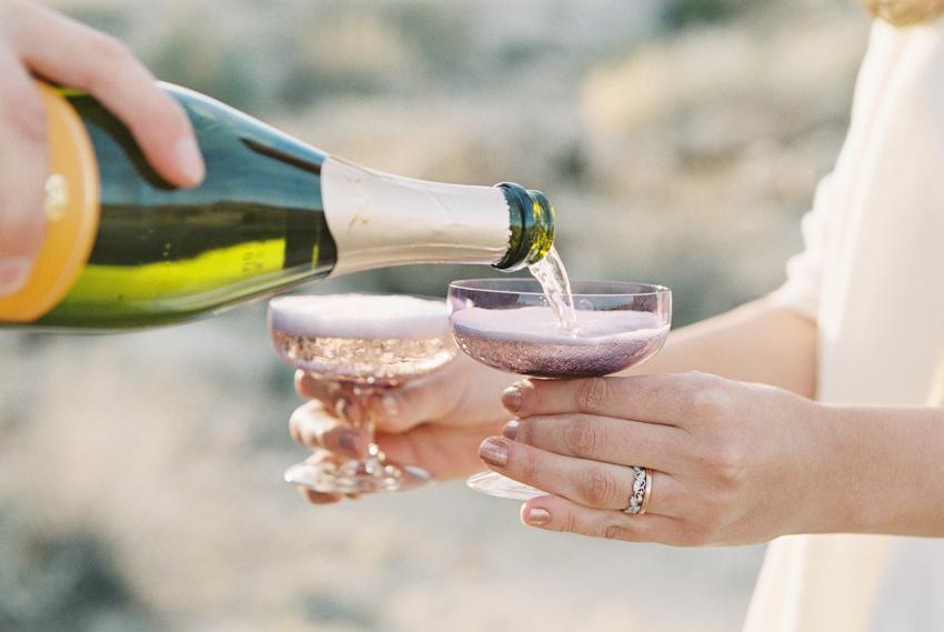 champagne desert ceremony