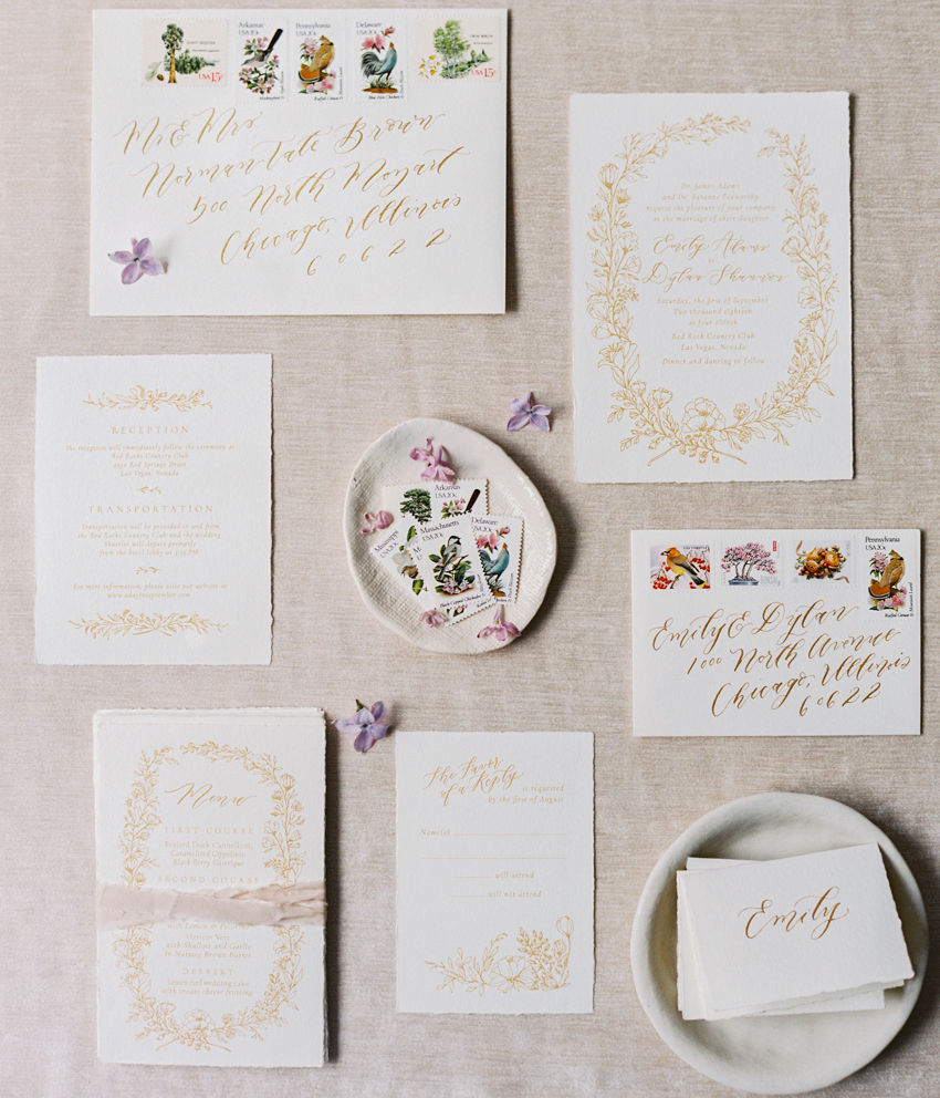 garden inspired wedding invitations