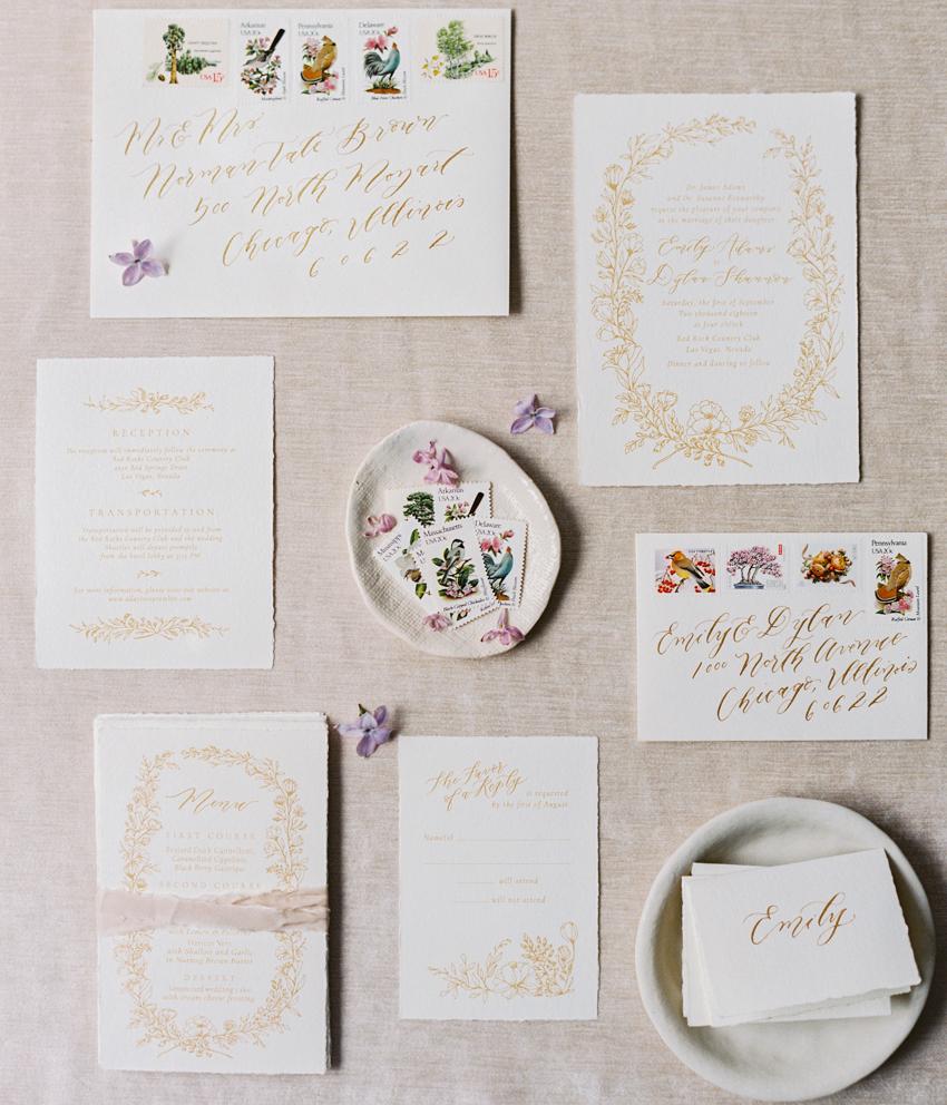 garden inspired wedding invitations