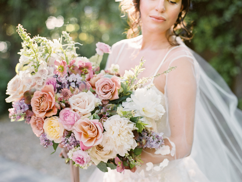 garden inspired wedding bouquet city blossoms