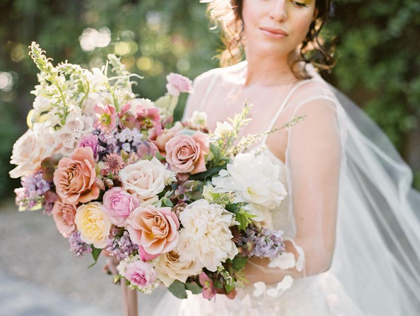 garden inspired wedding bouquet city blossoms