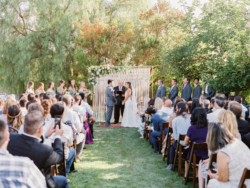 estate wedding in carlsbad