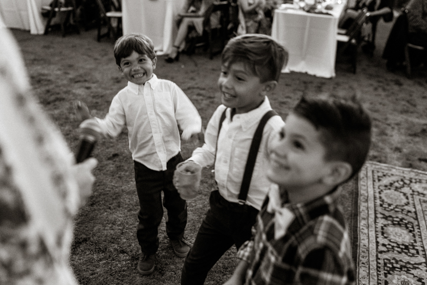 ring bearers dancing