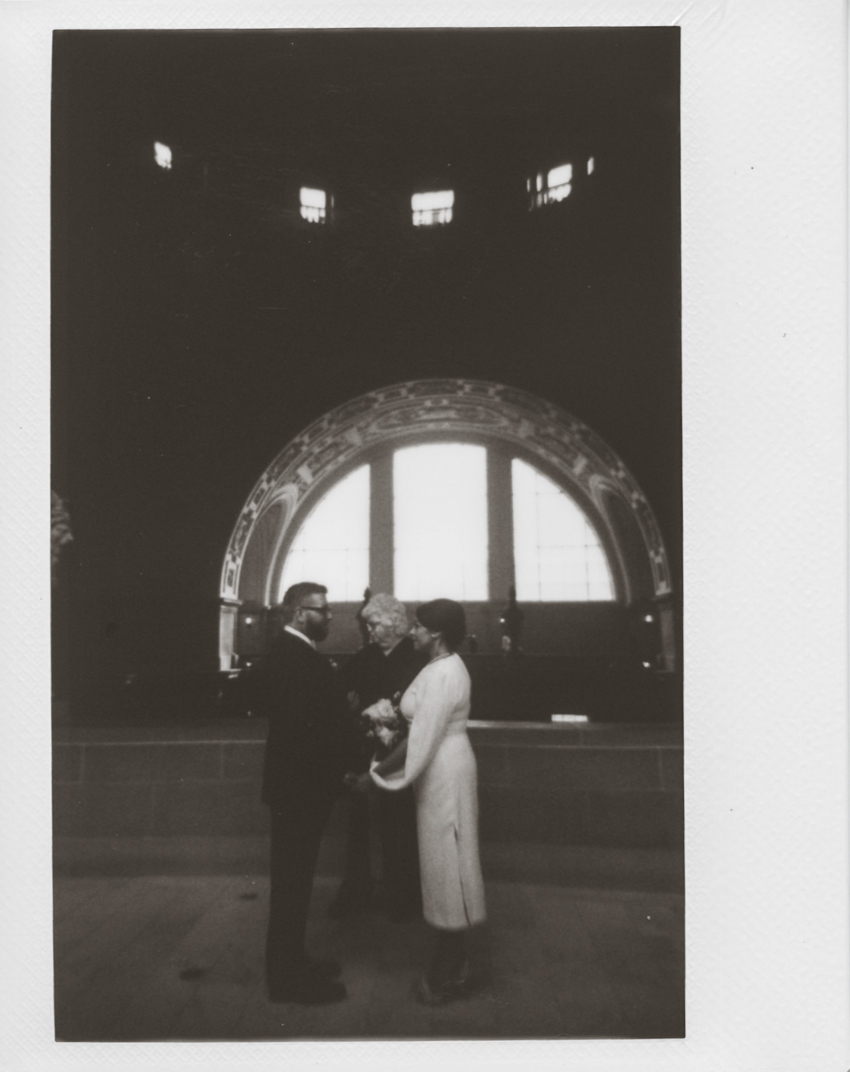 San Francisco city hall polaroid photographer
