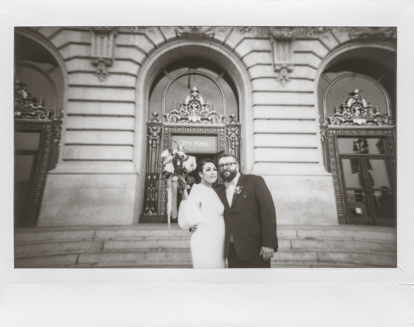 San Francisco city hall wedding polaroid photography