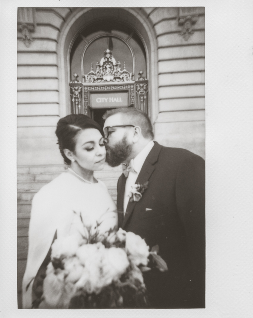 San Francisco city hall wedding polaroid photographer