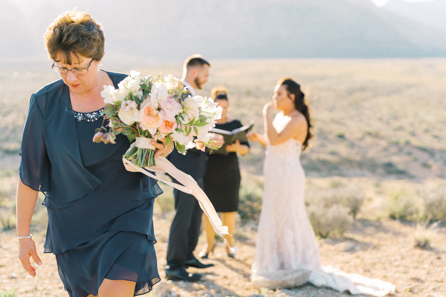 red rock canyon overlook elopement