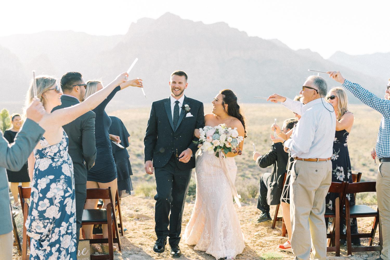 red rock canyon overlook wedding