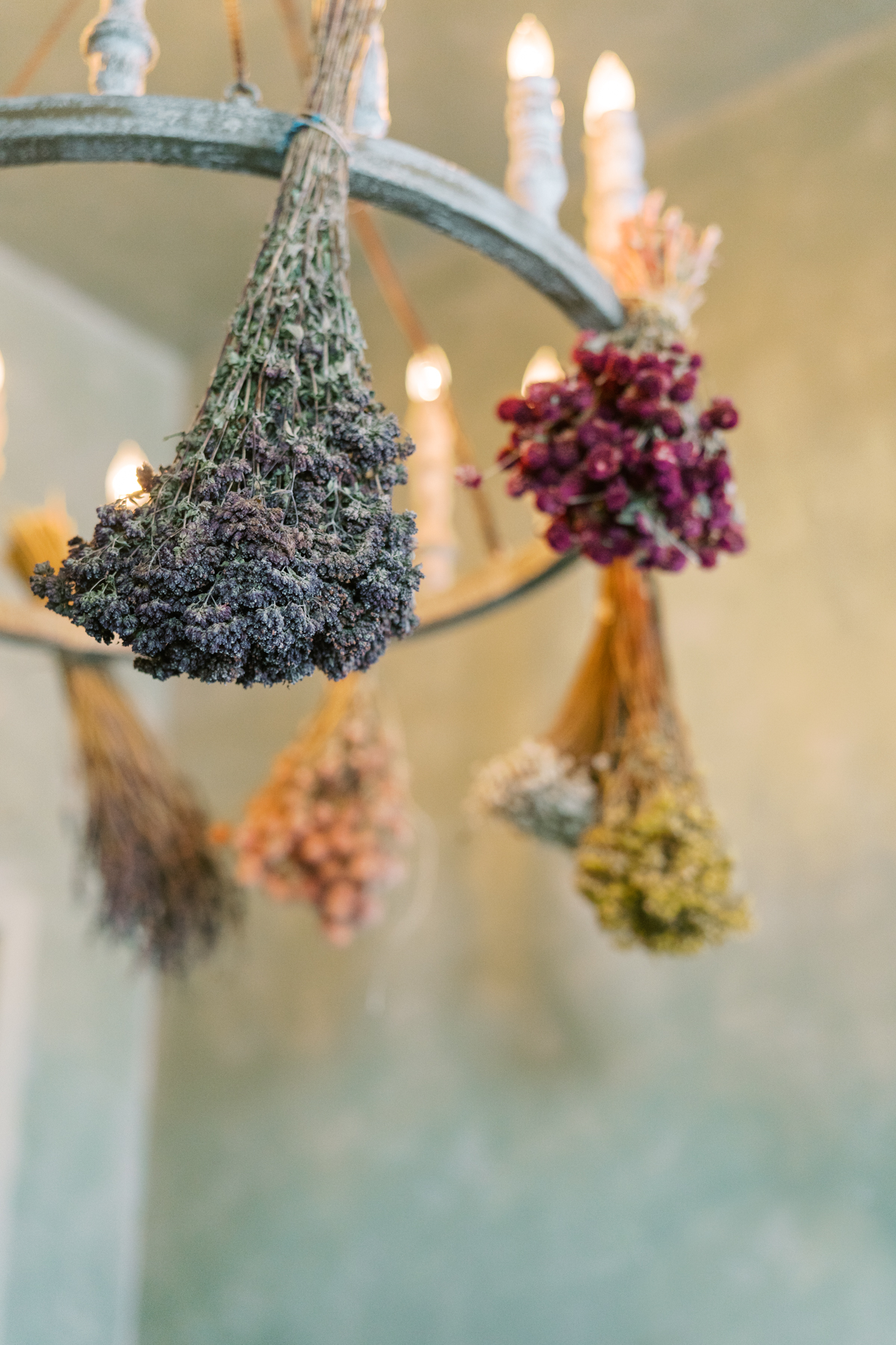 dried hanging flowers
