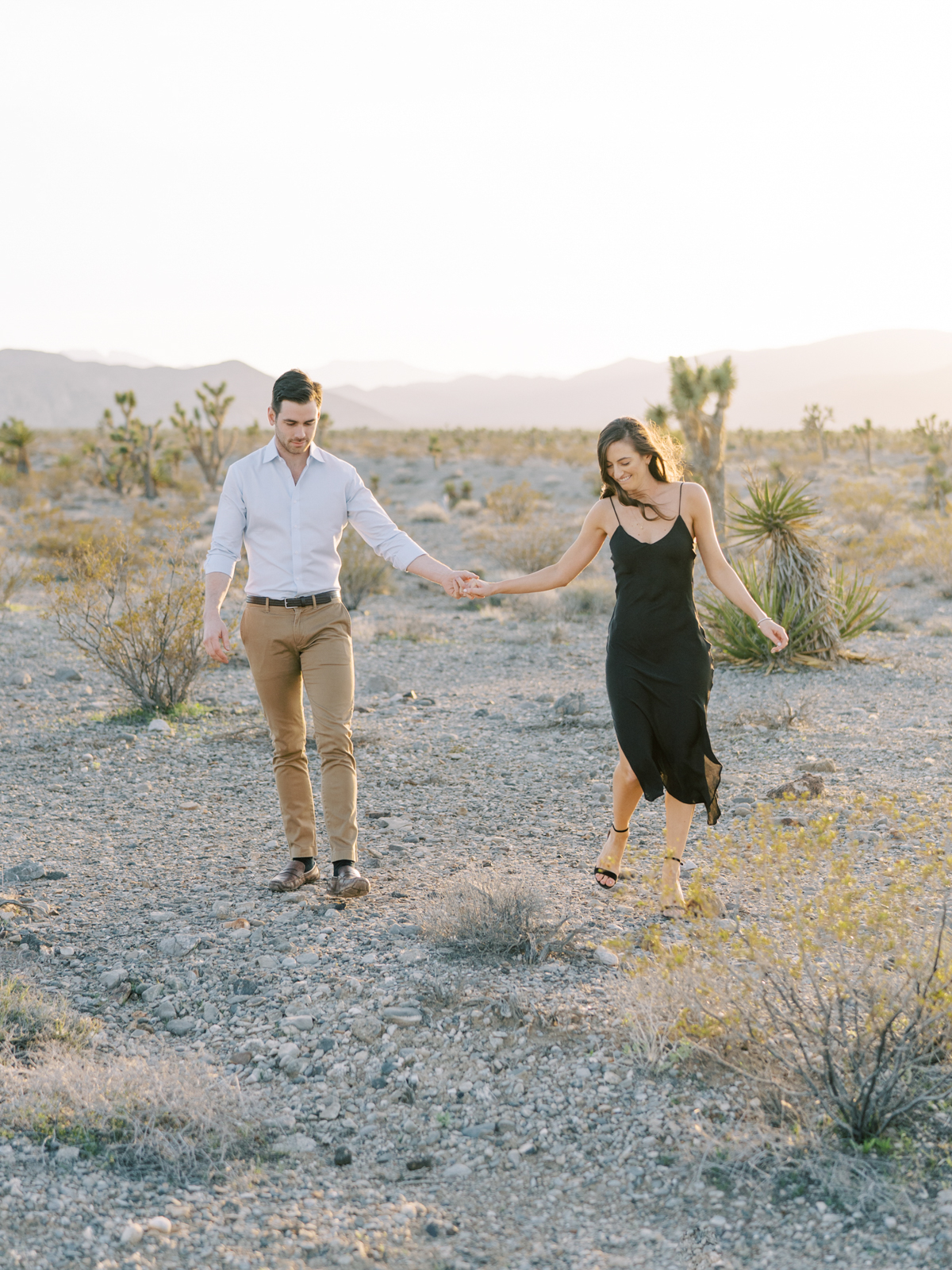 vegas desert engagement photos