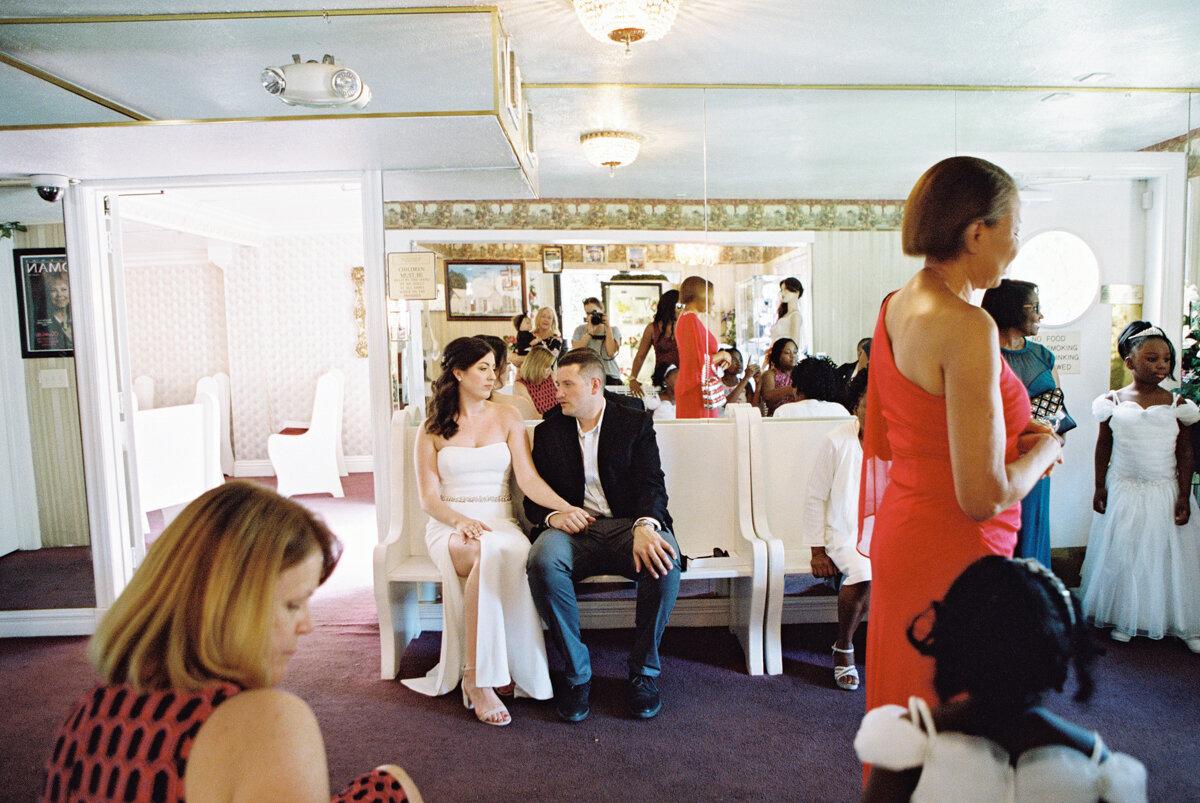 a little white wedding chapel elopement