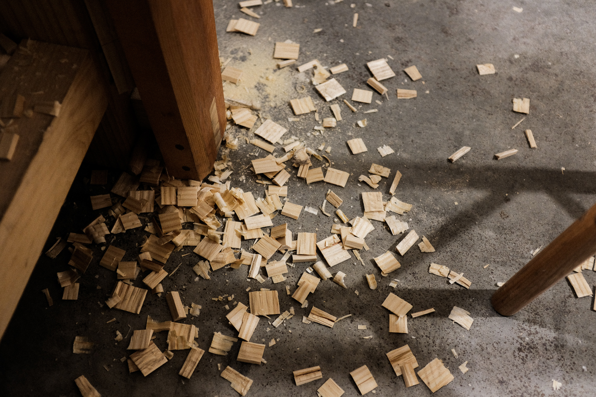 Hand tool chisel wood chips PF